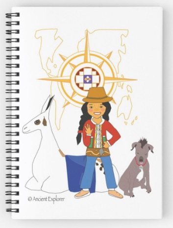 Team Ancient Explorer notebook with white cover