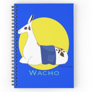 Wacho notebook with blue cover